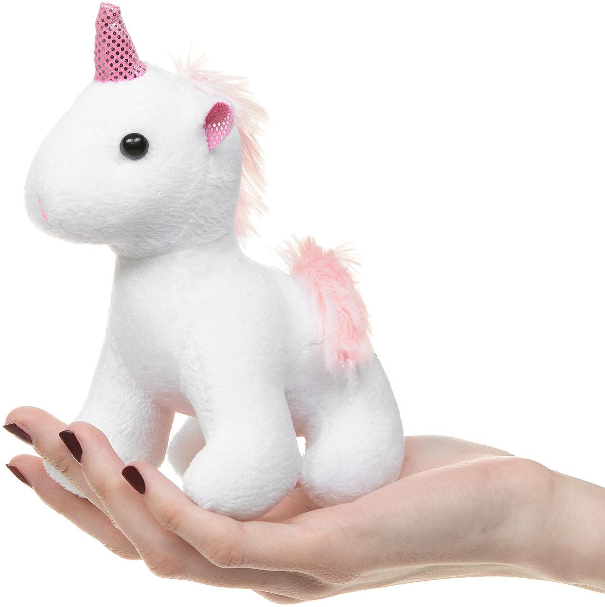ABtoysМягкая игрушка Единорог цвет белый 12 см ABtoys