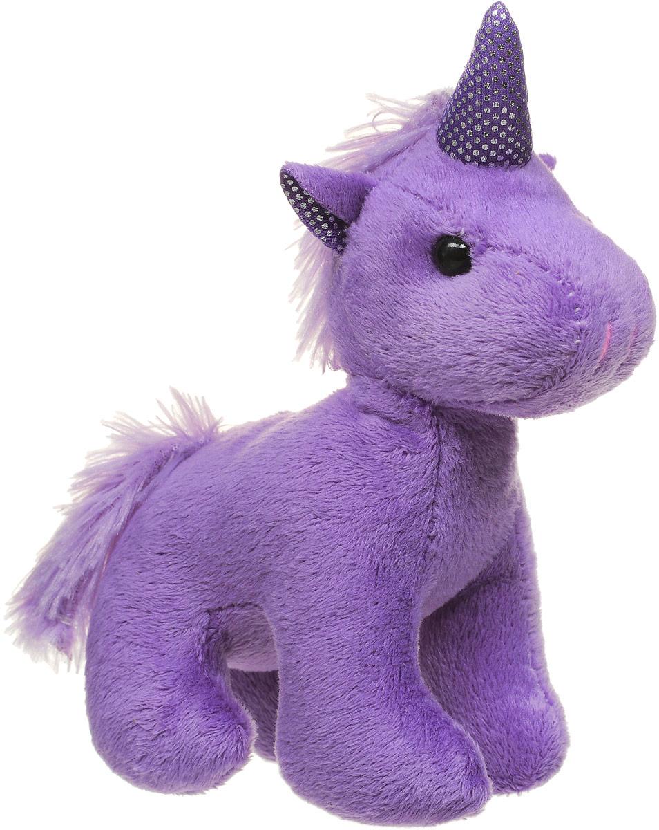 ABtoys Мягкая игрушка Единорог цвет фиолетовый 12 см abtoys мягкая игрушка леопард 10 см