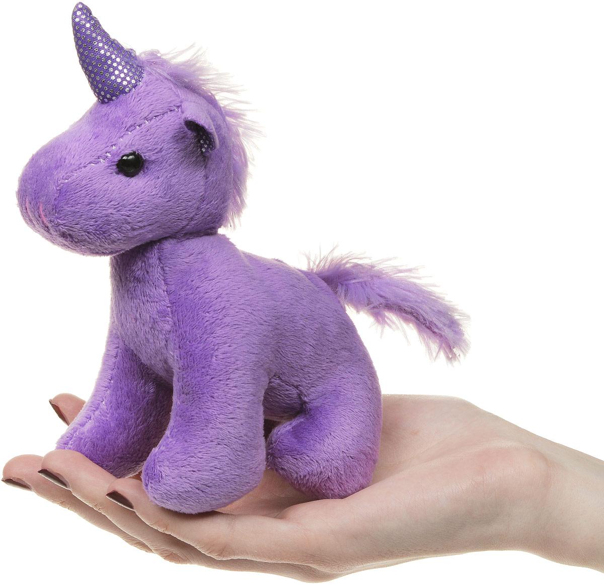 ABtoysМягкая игрушка Единорог цвет фиолетовый 12 см ABtoys