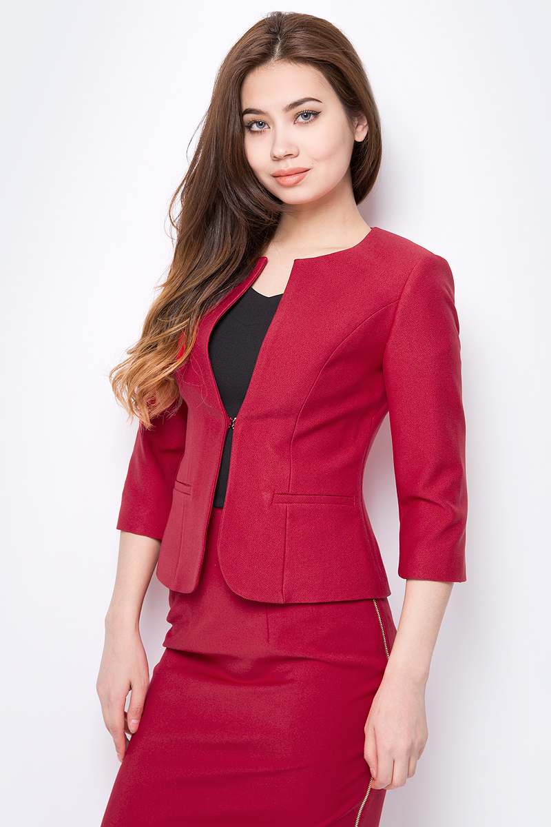 цены Жакет женский adL, цвет: красный. 11911408071_006. Размер XS (40/42)
