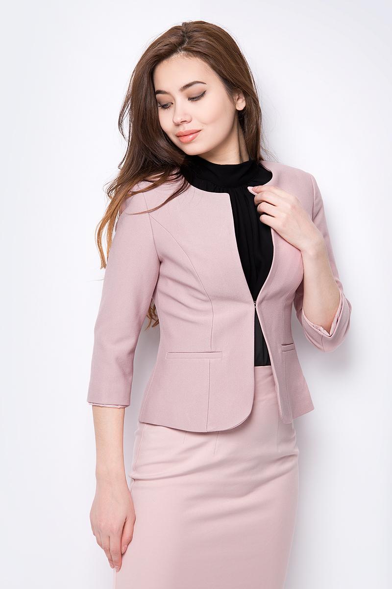 Купить Жакет женский adL, цвет: светло-розовый. 11911408071_026. Размер XS (40/42)