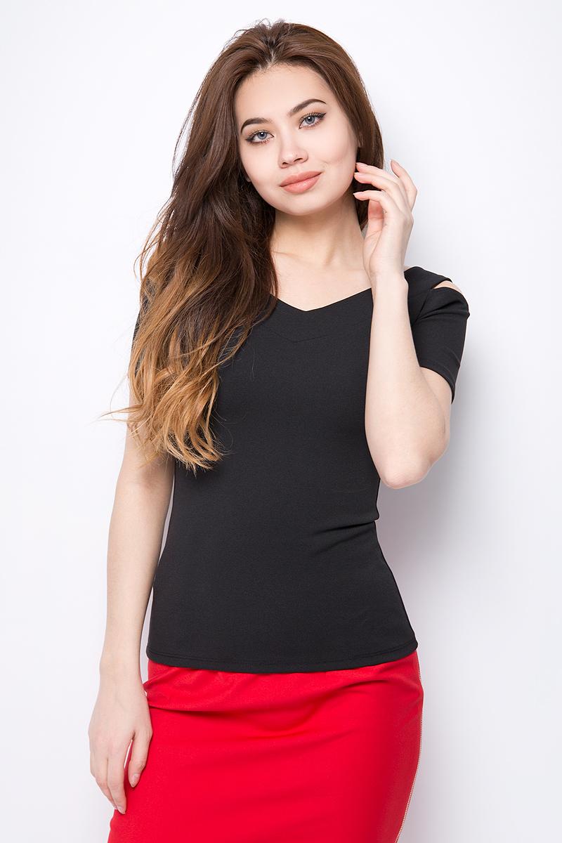 Блузка женская adL, цвет: черный. 11533719000_001. Размер XS (40/42) блузка женская wrangler цвет черный w5180bd01 размер xs 42