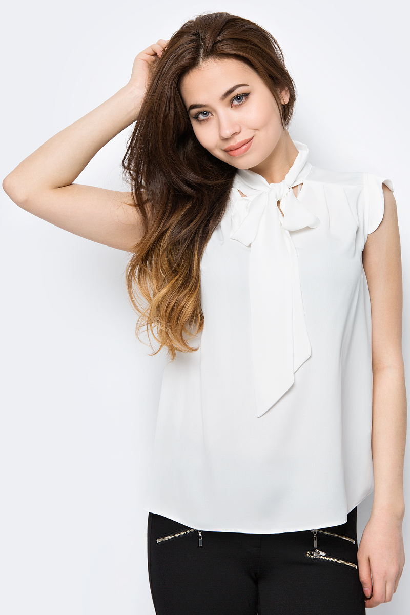 Блузка женская adL, цвет: белый. 11533421000_019. Размер XS (40/42)