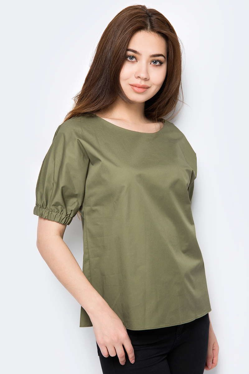 Блузка женская adL, цвет: зеленый. 11533602000_034. Размер XS (40/42)