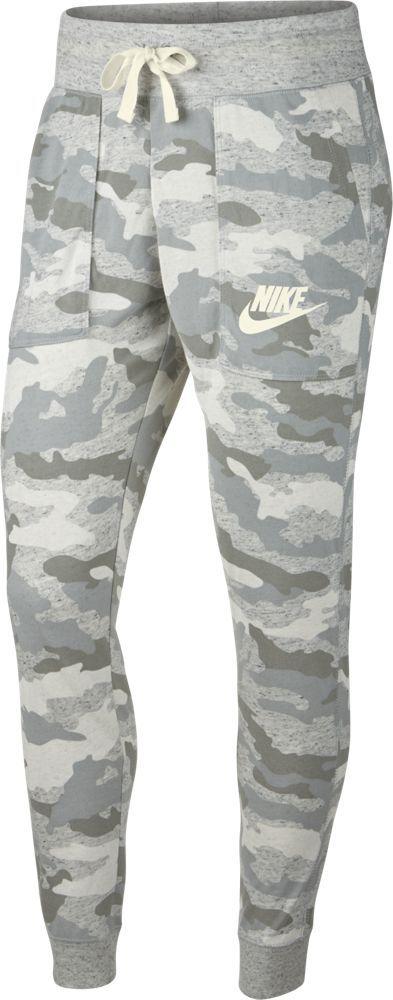 все цены на Брюки спортивные женские Nike Sportswear Gym Vintage, цвет: серый, зеленый. AO9178-019. Размер M (46/48) в интернете