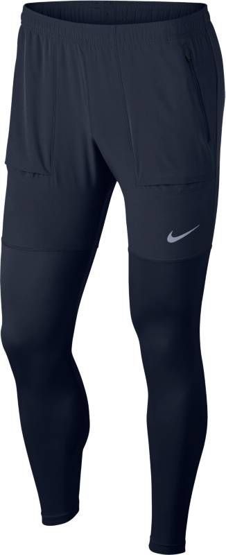 Купить Брюки спортивные мужские Nike Essential Running Pants, цвет: черный. AA4199-451. Размер S (44/46)