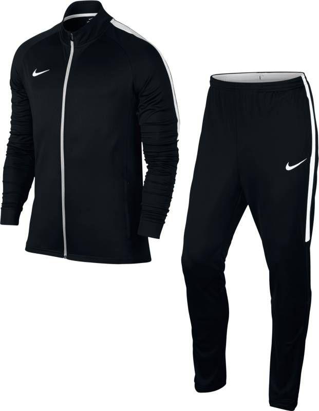 Костюм спортивный мужской Nike Dry Football Tracksuit, цвет: черный, белый. 844327-010. Размер XL (52/54) костюм спортивный nike dry academy 18 football tracksuit 893709 657 красн черн