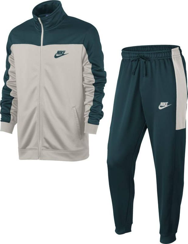 Костюм спортивный мужской Nike Sportswear Track Suit, цвет: светло-серый, зеленый. 861774-328. Размер XL (52/54)