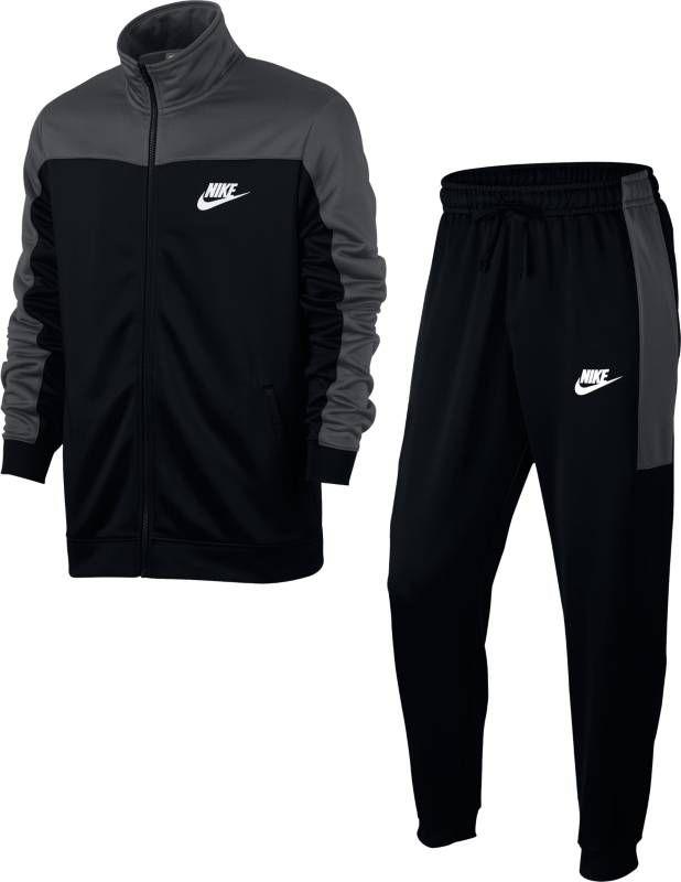 Костюм спортивный мужской Nike Sportswear Track Suit, цвет: черный, серый. 861774-060. Размер L (50/52)