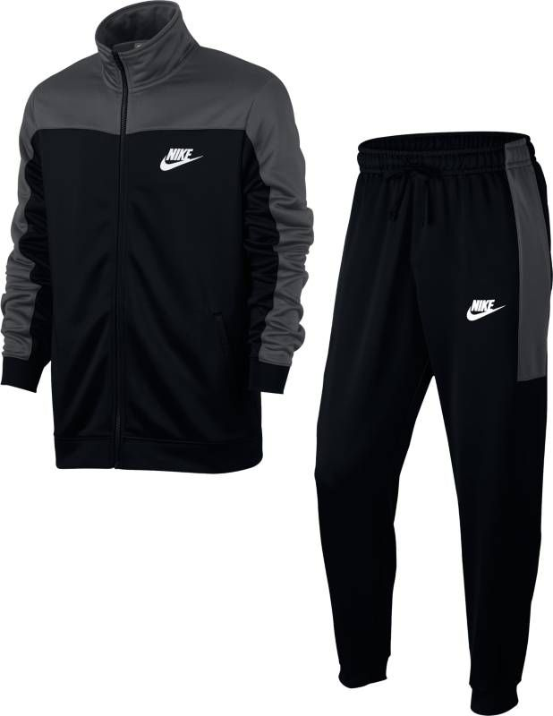 Костюм спортивный мужской Nike Sportswear Track Suit, цвет: черный, серый. 861774-060. Размер L (50/52) костюм nike boys sportswear track suit 856206 412