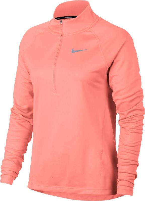 Лонгслив женский Nike Dry Running Top, цвет: розовый. 854945-827. Размер XL (50/52) original new arrival nike roshe one hyp br men s running shoes low top sneakers