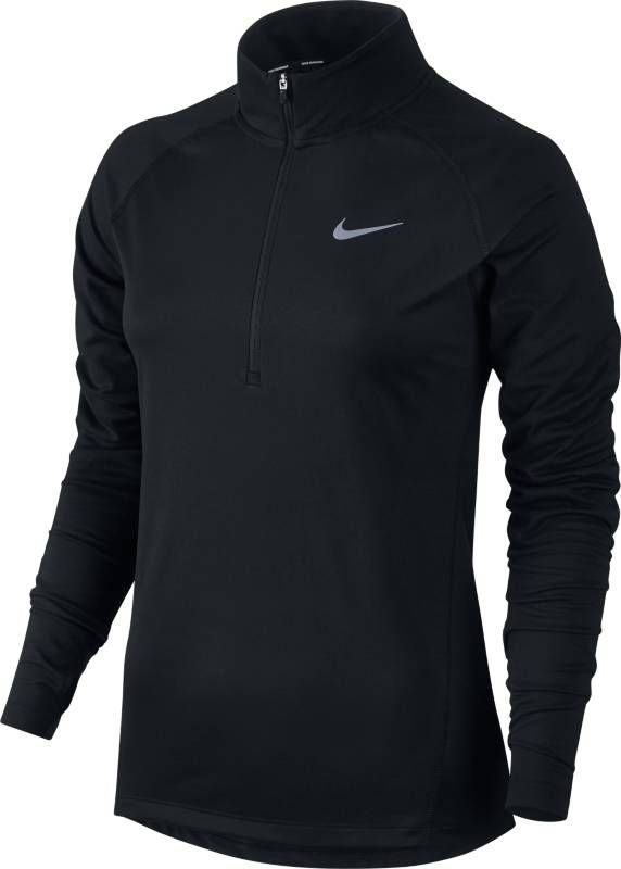 Лонгслив женский Nike Dry Running Top, цвет: черный. 854945-010. Размер M (46/48) original new arrival nike roshe one hyp br men s running shoes low top sneakers