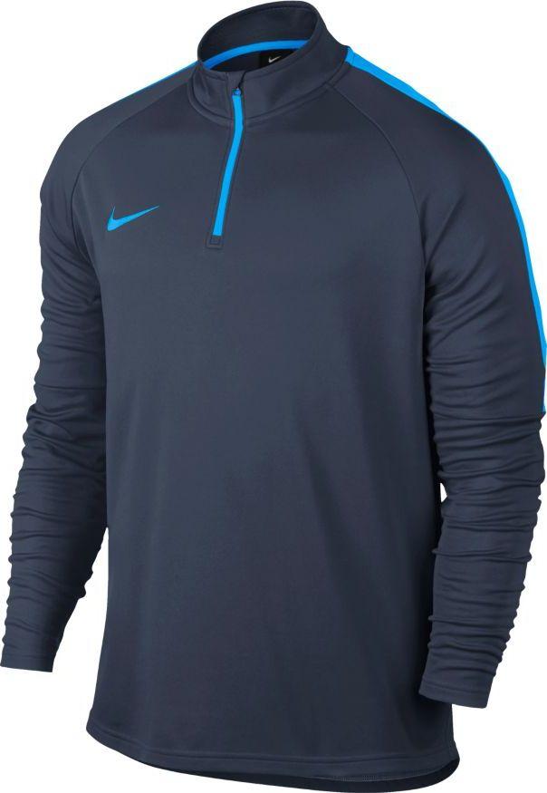 Лонгслив мужской Nike Dry Football Drill Top, цвет: синий. 839344-454. Размер S (44/46) лонгслив мужской nike dry football drill top цвет черный 839344 013 размер s 44 46