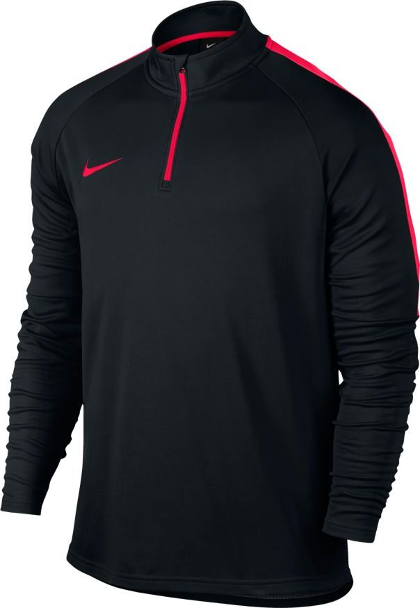 Лонгслив мужской Nike Dry Football Drill Top, цвет: черный, красный. 839344-017. Размер M (46/48) футболка nike drill football top 807245 010 черный 164