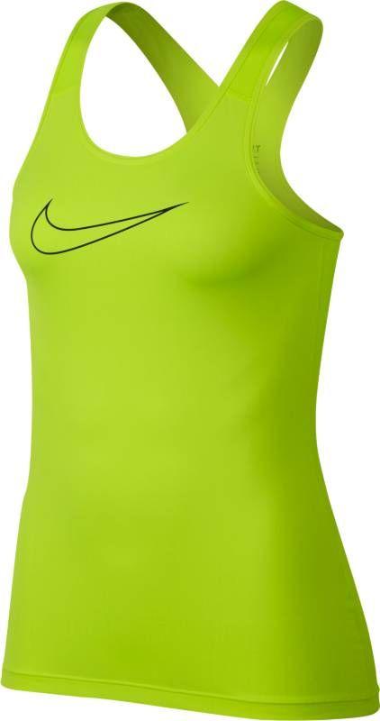 Майка женская Nike Pro Tank, цвет: желтый. 889560-702. Размер M (46/48)