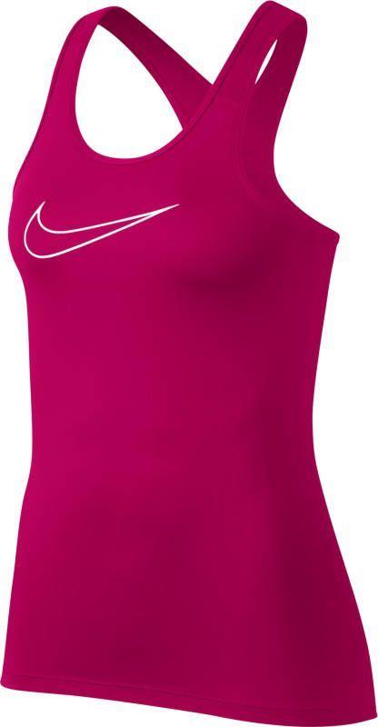 Майка женская Nike Pro Tank, цвет: розовый. 889560-622. Размер XS (40/42)