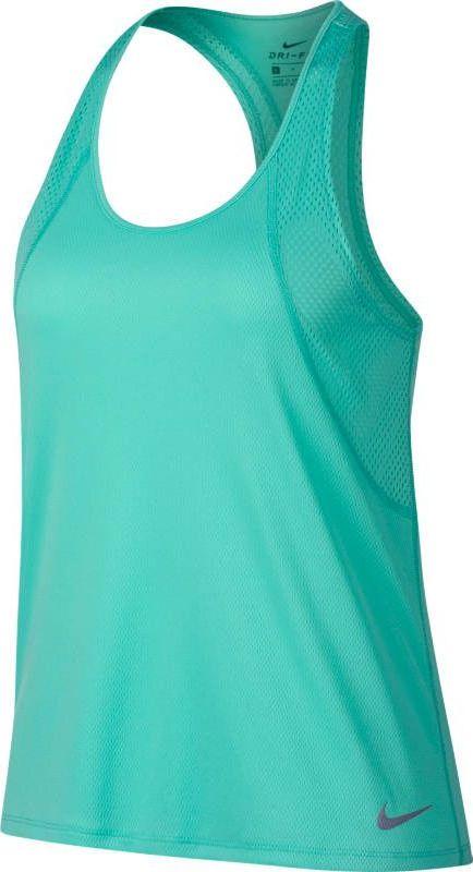 Майка женская Nike Running Tank, цвет: бирюзовый. 890351-349. Размер XS (40/42) женская одежда для спорта