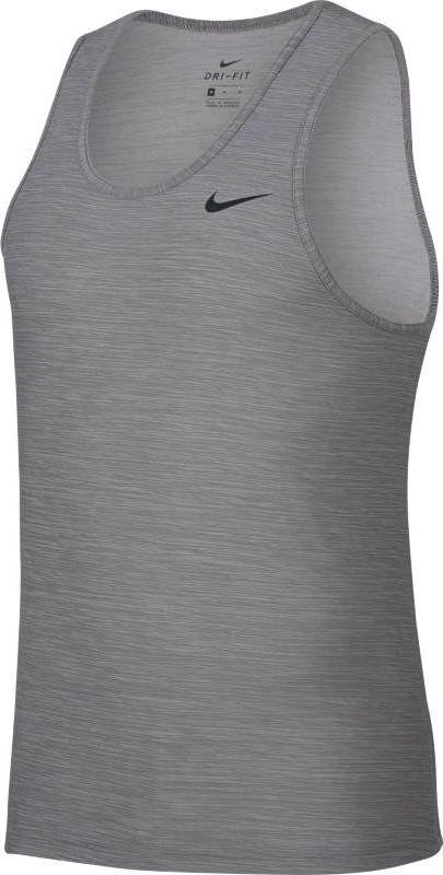 Майка мужская Nike Breathe Training Tank, цвет: серый. 832863-027. Размер XXL (54/56) футболка мужская nike breathe elite basketball top цвет серый 891682 027 размер l 50 52