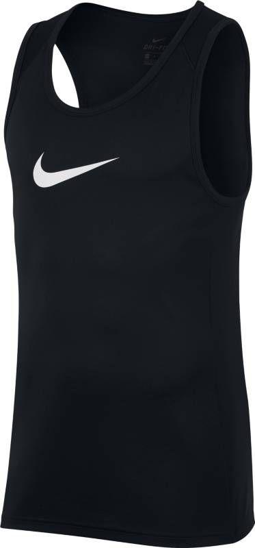 Майка мужская Nike Dry Basketball Top, цвет: черный. AJ1431-010. Размер S (44/46)AJ1431-010Думайте об игре, а не о том, что на вас надето, в мужской баскетбольной майке Nike Dry. Эта функциональная майка из легкой дышащей ткани с влагоотводящей технологией Dri-Fit имеет облегающий крой, и поэтому у тебя нет ощущения громоздкости во время игры. Технология Dri-Fit отводит влагу и обеспечивает комфорт. Особая конструкция в области плеч для оптимальной свободы движений во время игры. Немного удлиненная сзади нижняя кромка для дополнительной защиты.
