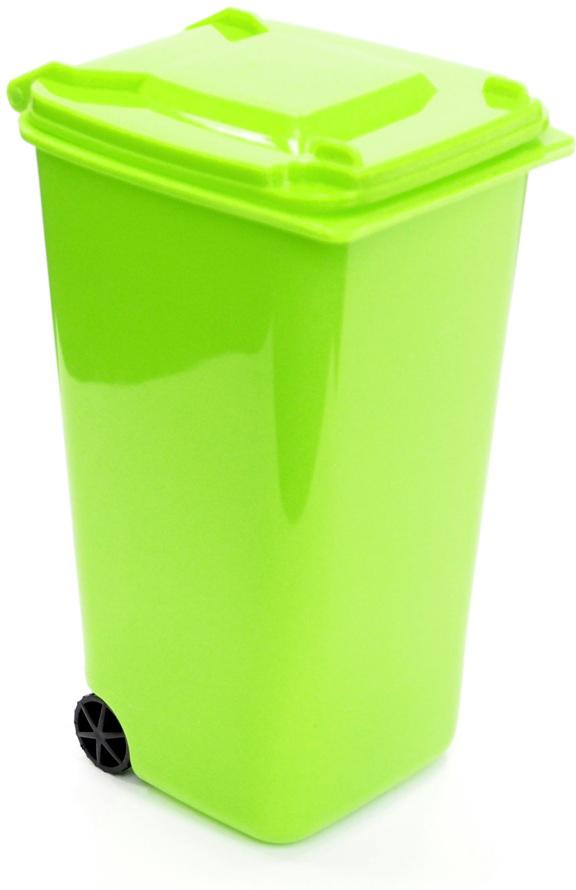 Подставка для столовых приборов Карамба Мусорный контейнер, цвет: зеленый, 11 x 7 cм3877Подставка для столовых приборов Карамба Мусорный контейнер поразит любого своейэлегантностью и практичностью. Этот незаменимый кухонный аксессуар обеспечит столовымприборам сушку и хранение, а также станет прекрасным украшением вашего рабочего кухонногопространства.