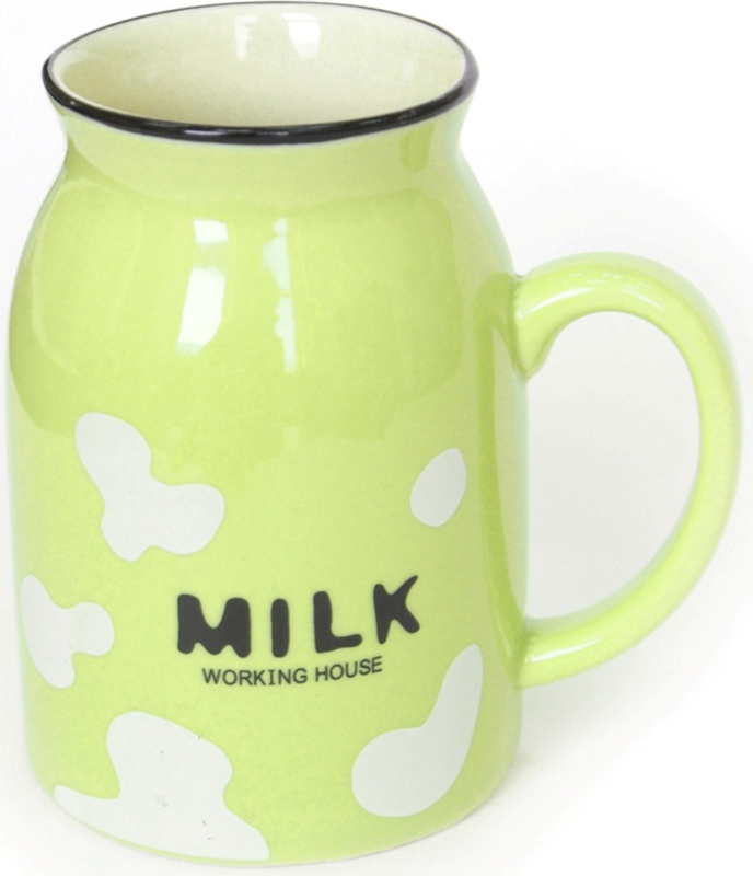Кружка Карамба Milk, цвет: светло-зеленый, 400 мл4955Яркая пятнистая кружка Milk может стать самой приятной вещицей на кухне.