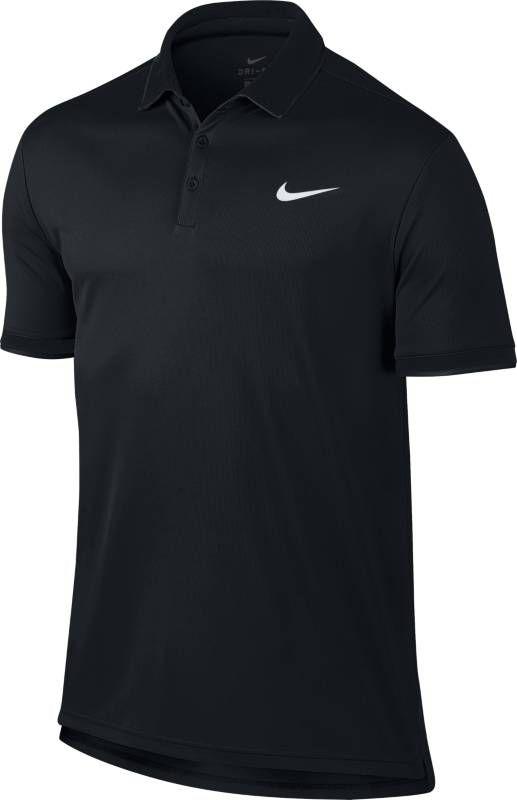 Поло мужское Nike Court Dry Tennis Polo, цвет: черный. 830849-015. Размер L (50/52)