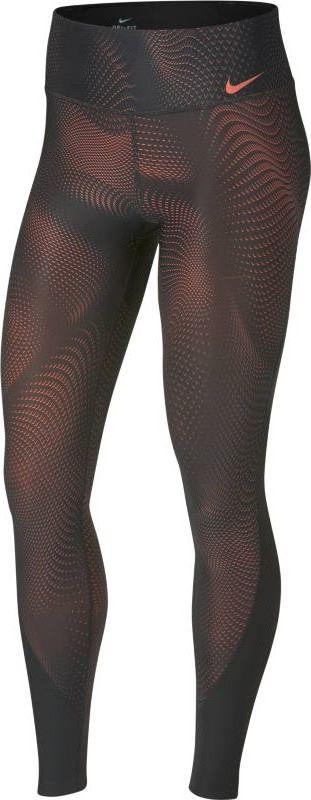 Тайтсы женские Nike Power, цвет: черный, красный. 891937-060. Размер M (46/48)