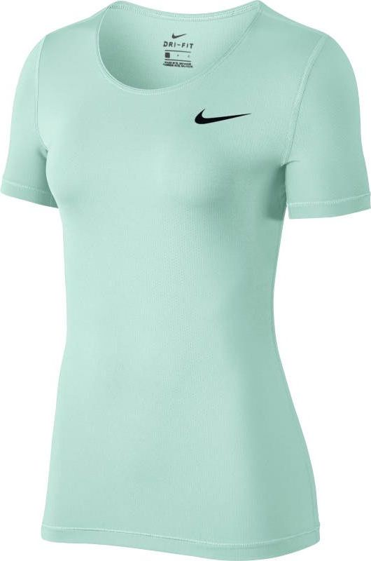 Футболка женская Nike Pro Top, цвет: бирюзовый. 889540-357. Размер L (48/50)