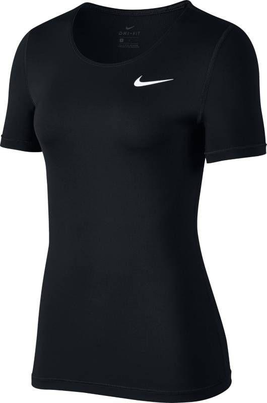 Футболка женская Nike Pro Top, цвет: черный. 889540-010. Размер L (48/50)