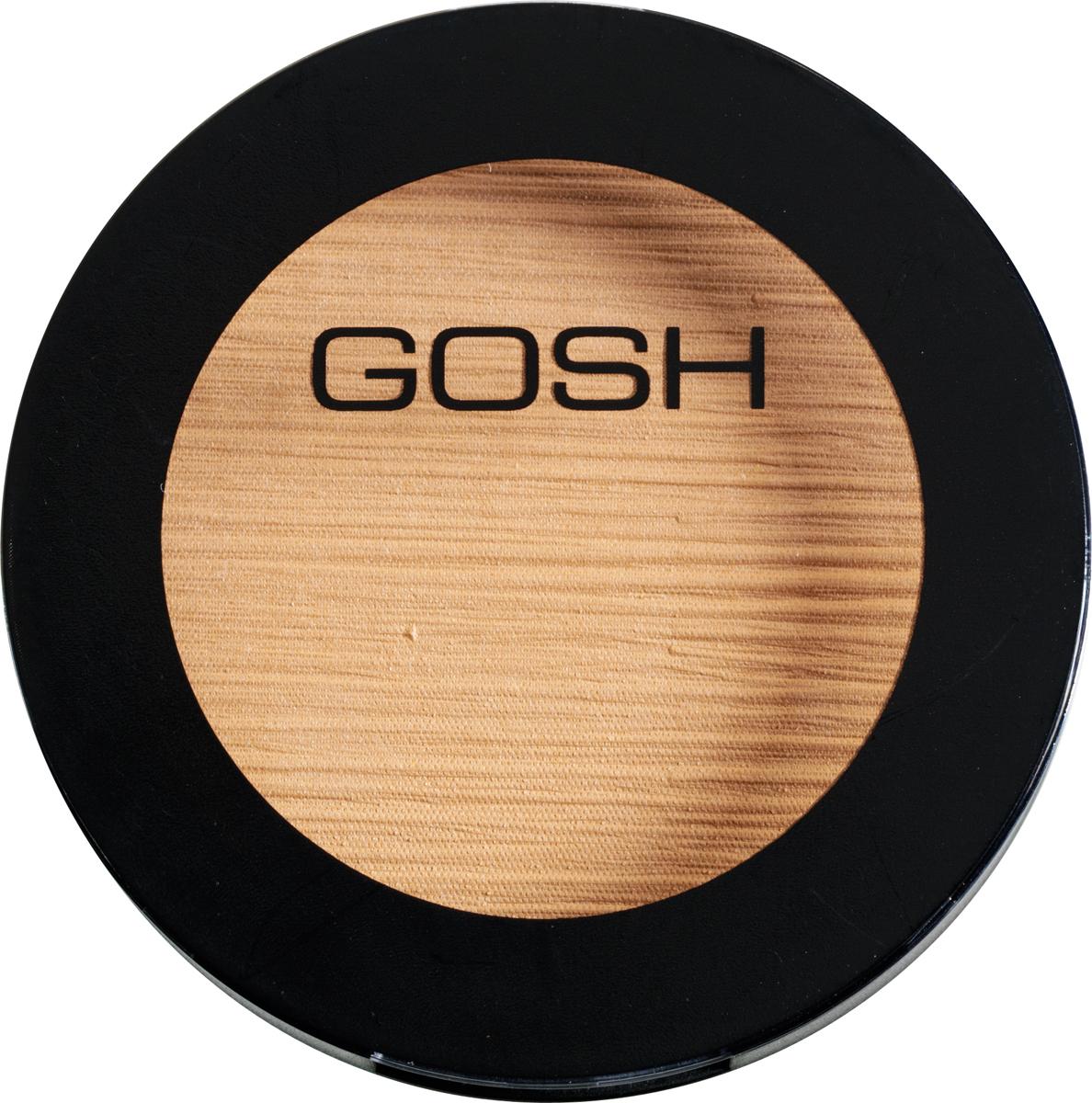 Gosh Пудра компактная для лица с эффектом загара Bronzing Powder, 10 г, 025701278615587Придать коже волшебный оттенок загара в любое время года, при этом замаскировав все небольшие дефекты, под силу эксклюзивной бронзирующей пудре Bronzing Powder от датской компании Gosh. Эта умопомрачительная компактная пудра позволит вам всего лишь после нескольких взмахов кисти или спонжа наполнить кожу максимально естественным и очень соблазнительным бронзовым оттенком, который станет идеальным завершением как изысканного дневного, так и волнующего вечернего мейкапа.Бронзирующая пудра чрезвычайно легко наносится на кожный покров и совершенно не ощущается в течение дня. Благодаря ультранежной текстуре и мельчайшему помолу она мягко растушевывается и превосходно держится, не скатываясь и не оставляя некрасивых темных пятнышек. Она придает коже мягкий эффект загара, а также великолепно подчеркивает естественный румянец, делая лицо более нежным и чувственным.Представленная пудра от Gosh идеально подойдет для создания макияжа лица, полностью выровняв его текстуру и придав естественный загоревший оттенок. Также пудру можно наносить на зону декольте, шею, плечи и руки, таким образом создавая гармоничный и целостный образ. Способ применения: Нанесите пудру на чистую кожу лица или поверх основы для макияжа, круглой кистью или спонжем. Начинайте наносить с центра лба, двигаясь вниз по скулам до подбородка. Пройдите легонько по носу и щекам.