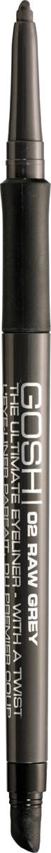 Gosh Карандаш для глаз The Ultimate Eyeliner-With a Twist автоматический, 0,4 г, тон №025701278518024Знаменитый датский бренд Gosh представляет ультрамягкий карандаш для создания максимально выразительного взгляда. Простой и очень удобный в использовании карандаш Ultimate Eyeliner With A Twist позволяет проводить безукоризненно ровную и потрясающе четкую линию вдоль линии роста ресничек, создавая более выразительный, открытый и обольстительный взгляд.Карандаш от Gosh создан на основе эксклюзивной водостойкой формулы, которая придает ему повышенную стойкость, не позволяя размазываться или скатываться даже под воздействием воды. Стоит также отметить, что карандаш обогащен инновационными растительными компонентами, с помощью которых происходит интенсивный, но при этом очень деликатный уход за уязвимой кожей век. Представленный карандаш имеет сверхпрочный стержень, который не ломается, и выкручивающуюся форму, поэтому его совершенно не нужно затачивать. Удобный и приятный в использовании, он непременно поможет вам создавать новые, стильные, яркие и экстравагантные варианты мейкапа!Способ применения: Проведите контур в зависимости от формы глаза. Чтобы точно обвести контур глаз, не проводите одну сплошную линию, а делайте несколько штрихов один за другим, двигаясь от внутреннего уголка глаза к внешнему. Растушуйте аппликатором при необходимости.