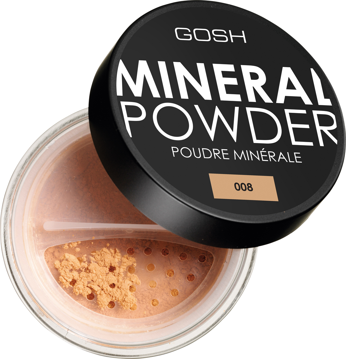 Gosh Пудра рассыпчатая минеральная для лица Mineral Powder, 8 г, тон №008 guerlain meteorites perles пудра для лица в шариках 2 розово бежевый