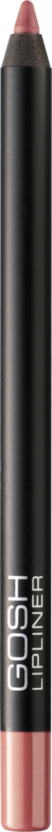 Gosh Карандаш для губ Velvet Touch водостойкий, 1,2 г, тон №0065711914047009Чтобы придать макияжу губ максимальную выразительность, стойкость и обворожительность, визажисты рекомендуют использовать специальные контурные карандаши. Именно они помогут создать абсолютно безупречный контур губ, предотвратив растекание косметического средства, а также существенно увеличат стойкость макияжа, позволив сохранить яркость, глубину и насыщенность помады в течение всего дня.Одним из самых потрясающих карандашей для губ, приобрести которые вы имеете возможность, является Velvet Touch Waterproof Lipliner, разработанный датским брендом Gosh. Входящие в его состав витамин Е, минеральное и масло жожоба обеспечат максимально мягкое нанесение и сверхбыструю фиксацию на губах в течение 30-40 секунд. А благодаря эксклюзивным высокотехнологическим пигментам, имеющим инновационную водостойкую формулу, вы получите восхитительно стойкий и насыщенный натуральный оттенок, который не оставит равнодушной даже самую требовательную леди. Контурный карандаш от Gosh отлично работает с помадой, не позволяя ей блекнуть, растекаться и скатываться в течение дня. К тому же, представленный карандаш можно смело использовать самостоятельно, тем самым создавая абсолютно естественный и натуральный, но при этом потрясающе стойкий макияж губ. Способ применения: Обведите губы контурным карандашом, затем нанесите помаду или блеск для губ. После использования хорошо закройте карандаш, чтобы стержень оставался мягким и эластичным.