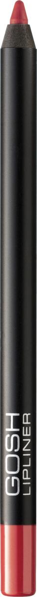 Gosh Карандаш для губ Velvet Touch водостойкий, 1,2 г, тон №0075711914047061Чтобы придать макияжу губ максимальную выразительность, стойкость и обворожительность, визажисты рекомендуют использовать специальные контурные карандаши. Именно они помогут создать абсолютно безупречный контур губ, предотвратив растекание косметического средства, а также существенно увеличат стойкость макияжа, позволив сохранить яркость, глубину и насыщенность помады в течение всего дня.Одним из самых потрясающих карандашей для губ, приобрести которые вы имеете возможность, является Velvet Touch Waterproof Lipliner, разработанный датским брендом Gosh. Входящие в его состав витамин Е, минеральное и масло жожоба обеспечат максимально мягкое нанесение и сверхбыструю фиксацию на губах в течение 30-40 секунд. А благодаря эксклюзивным высокотехнологическим пигментам, имеющим инновационную водостойкую формулу, вы получите восхитительно стойкий и насыщенный натуральный оттенок, который не оставит равнодушной даже самую требовательную леди. Контурный карандаш от Gosh отлично работает с помадой, не позволяя ей блекнуть, растекаться и скатываться в течение дня. К тому же, представленный карандаш можно смело использовать самостоятельно, тем самым создавая абсолютно естественный и натуральный, но при этом потрясающе стойкий макияж губ. Способ применения: Обведите губы контурным карандашом, затем нанесите помаду или блеск для губ. После использования хорошо закройте карандаш, чтобы стержень оставался мягким и эластичным.