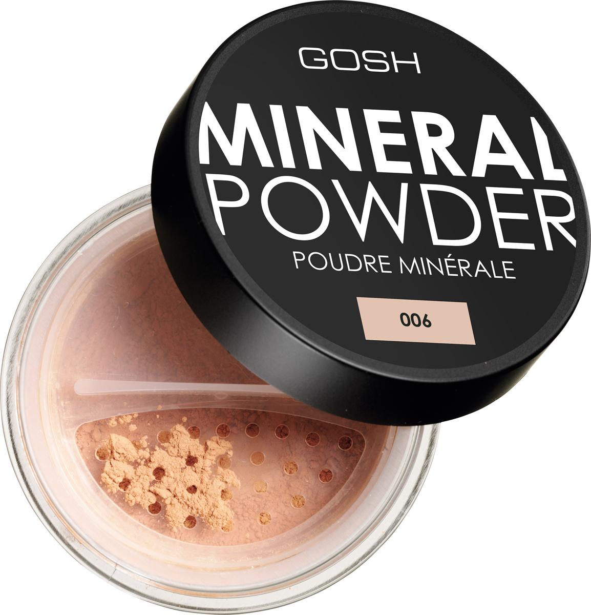 Gosh Пудра рассыпчатая минеральная для лица Mineral Powder, 8 г, тон №006 пудра