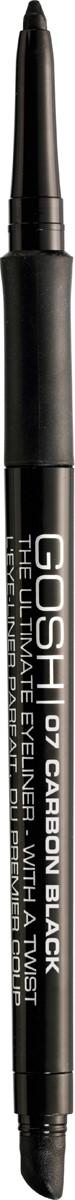 Gosh Карандаш для глаз The Ultimate Eyeliner-With a Twist автоматический, 0,4 г, тон №075711914047528Знаменитый датский бренд Gosh представляет ультрамягкий карандаш для создания максимально выразительного взгляда. Простой и очень удобный в использовании карандаш Ultimate Eyeliner With A Twist позволяет проводить безукоризненно ровную и потрясающе четкую линию вдоль линии роста ресничек, создавая более выразительный, открытый и обольстительный взгляд.Карандаш от Gosh создан на основе эксклюзивной водостойкой формулы, которая придает ему повышенную стойкость, не позволяя размазываться или скатываться даже под воздействием воды. Стоит также отметить, что карандаш обогащен инновационными растительными компонентами, с помощью которых происходит интенсивный, но при этом очень деликатный уход за уязвимой кожей век. Представленный карандаш имеет сверхпрочный стержень, который не ломается, и выкручивающуюся форму, поэтому его совершенно не нужно затачивать. Удобный и приятный в использовании, он непременно поможет вам создавать новые, стильные, яркие и экстравагантные варианты мейкапа!Способ применения: Проведите контур в зависимости от формы глаза. Чтобы точно обвести контур глаз, не проводите одну сплошную линию, а делайте несколько штрихов один за другим, двигаясь от внутреннего уголка глаза к внешнему. Растушуйте аппликатором при необходимости.