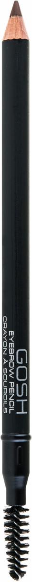 Gosh Карандаш для бровей Eyebrow Pencil, 1,2 г, тон №045711914084127Чтобы ваш макияж выглядел изысканным и завершенным, необходимо не забывать о коррекции бровей. Ее можно провести с помощью великолепного карандаша Eyebrow Pencil, выпускаемого знаменитым брендом из Дании Gosh. Укомплектованный удобной щеточкой, он позволяет не только идеально прокрасить линию бровей, но и создать их утонченный изгиб.Представленный карандаш имеет достаточно твердый, остро заточенный грифель, созданный на ультралегкой пудровой основе. Он гарантирует тщательное, аккуратное и равномерное прорисовывание бровей небольшими штрихами и заполнение пустых промежутков. Карандаш имеет чрезвычайно высокий уровень стойкости: он не растекается в течение дня, не блекнет и не исчезает, сохраняя макияж бровей в безупречном состоянии. Три роскошных оттенка, в которых представлен карандаш, позволяют гармонично дополнить образ брюнеток, блондинок и русоволосых девушек.Щеточка, которая размещена на конце карандаша от Gosh, позволяет хорошо расчесать и уложить брови, а также легко растушевать штрихи ранее нанесенного карандаша. Она с легкостью придает бровям четкую форму и выразительный изгиб, делая лицо более красивым и соблазнительным.Способ применения: брови необходимо причесать и карандашом нанести метки, чтобы правильно и равномерно нанести штрихи. Потом волоски причесываются щеточкой для бровей и наносятся сами штрихи по направлению роста бровей. Цвет карандаша может быть однотонным или же разным.