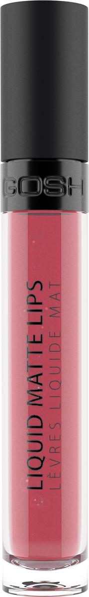 Gosh Помада жидкая Liquid Matte Lips матовая, 4 мл, тон №0045711914100926LIQUID MATTE LIPS - это 8 ярких оттенков на любые случаи жизни, обладающие мягкой, кремовой текстурой с матовым и шелковистым покрытием, очень комфортным на губах. Легкое и невесомое покрытие, насыщенный пигмент - настоящая находка для безупречного макияжа губ. Идеальна для влажного и теплого климата.