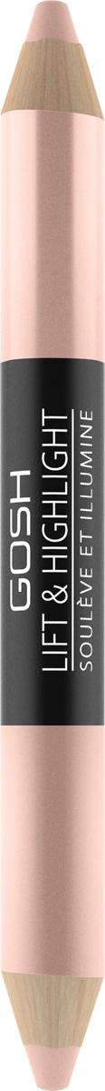 Gosh Двухсторонний карандаш-хайлайтер для глаз Lift & Highlight, 3 г, тон №0025711914109028Итак, двусторонний карандаш-хайлайтер имеет с одной стороны матовую текстуру, а с другой мерцающую, чтобы помогать в создании как повседневного естественного, так и выразительного праздничного образа. Он становится верным помощником при макияже глаз (наносится на внутренние уголки, придавая взгляду свежесть), бровей (наносится на линию роста волосков и после растушевки «открывает» взгляд) и губ (помогает визуально придавать им объем).Такое средство мгновенно дарит сияющий и свежий вид. Оставаясь практически незаметным, оно помогает в создании максимально естественного мэйкапа и подчеркивает природное очарование, корректируя мелкие несовершенства.Способ применения: Нанесите под бровь по линии роста волос, растушуйте и взгляд станет более открытый. При использовании во внутренних уголках глаз придаст свежесть взгляду.