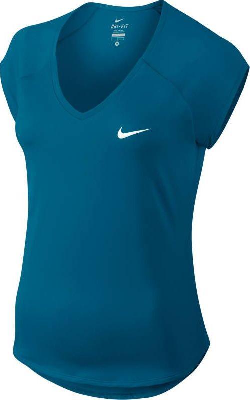 Футболка женская Nike Pure, цвет: синий. 728757-430. Размер XS (40/42)