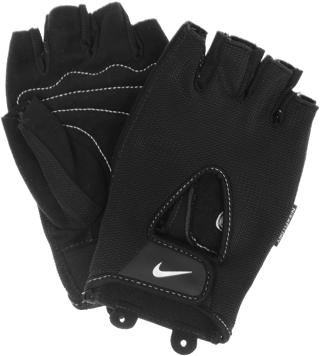 Перчатки для фитнеса мужские Nike Men's Fundamental Training Gloves, цвет: черный, белый. Размер M nike перчатки для фитнеса женские nike accessories