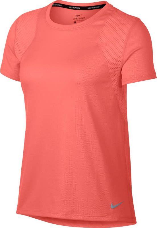 Футболка женская Nike Short-Sleeve Running Top, цвет: розовый. 890353-827. Размер S (42/44) футболка беговая nike dri fit cool tailwind stripe short sleeve top