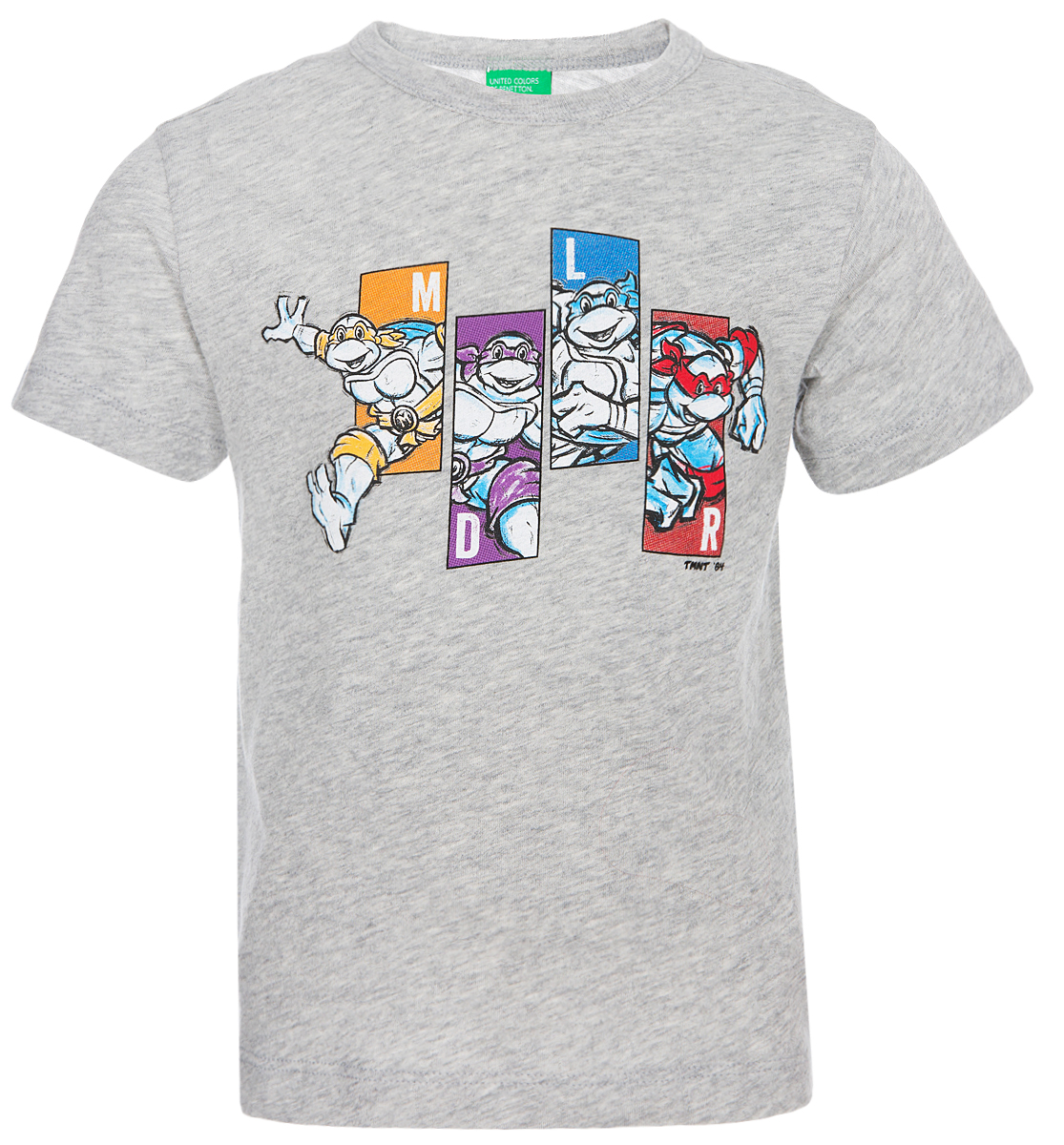 Футболка для мальчика United Colors of Benetton, цвет: серый. 3Z01C18PP_501. Размер 100 пижама для мальчика united colors of benetton цвет серый 3j68z11ls 501 размер 100