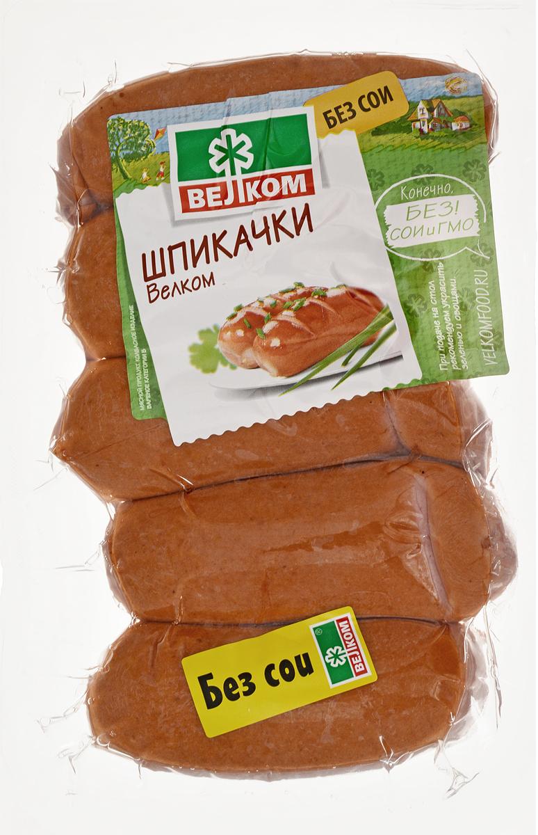 Велком Шпикачки в натуральной оболочке, 450 г сайра охлажденная