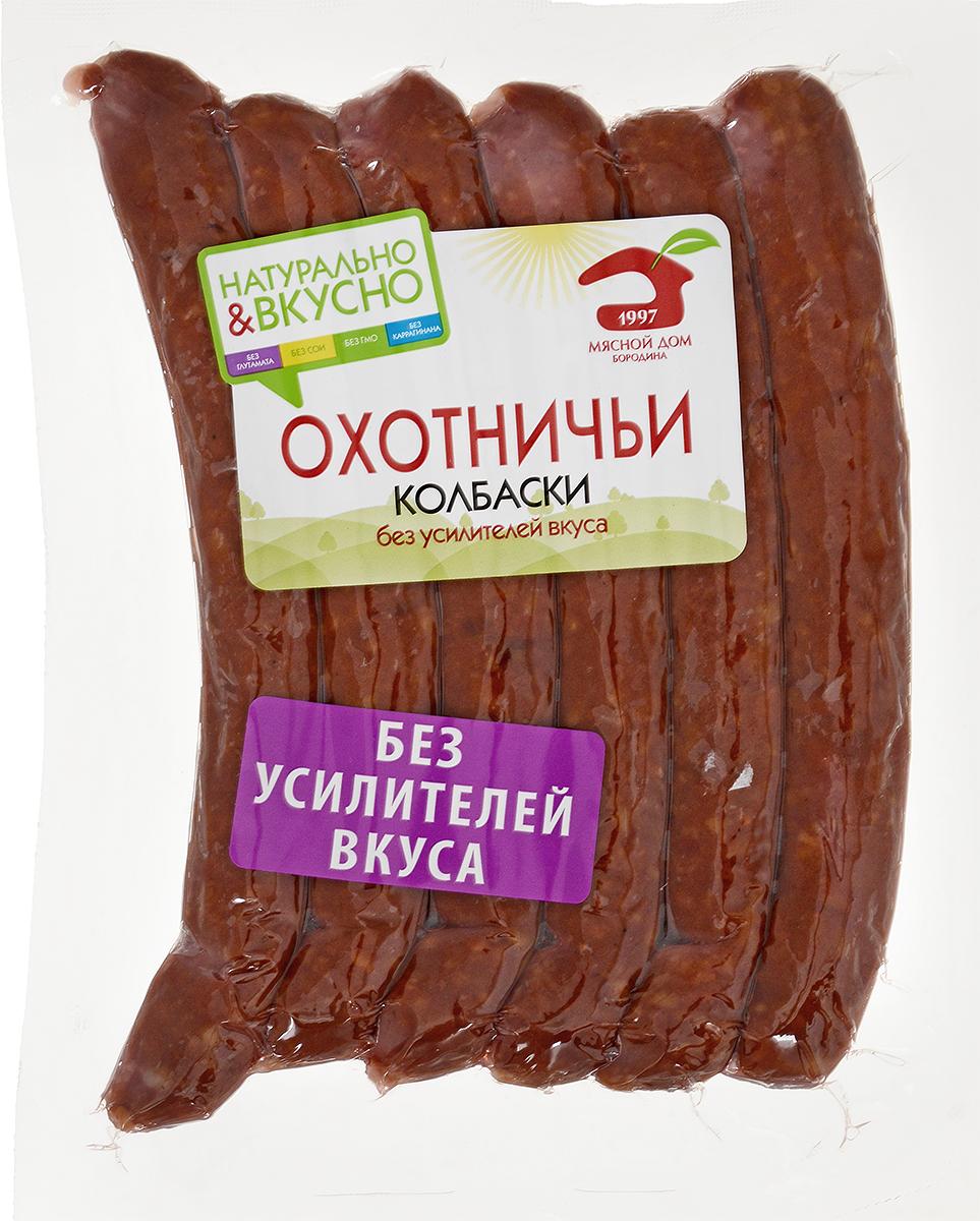 МД Бородина Охотничьи колбаски полукопченые в белковой оболочке, 230 г