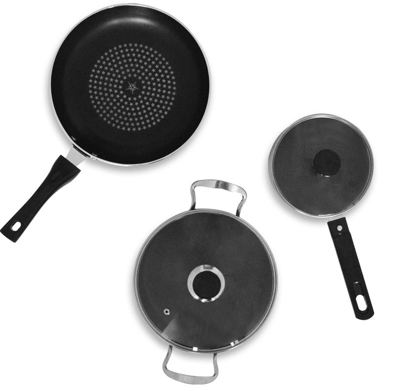 Набор посуды Uslanbfay, цвет: красный, 5 предметов набор посуды travola с антипригарным покрытием цвет красный 5 предметов