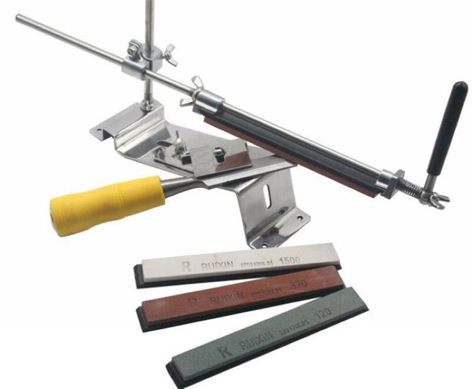 Станок точильный Удачная покупка, цвет: серебристый. УТ-00000311УТ-00000311Металлический станок для профессиональной заточки ножей. В комплекте 4 точильных камня.