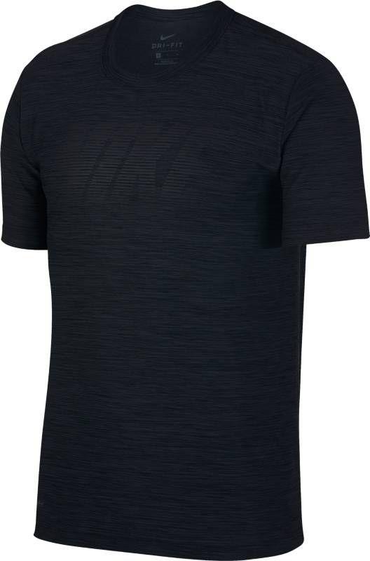 Футболка мужская Nike Breathe Training Top, цвет: черный. 942116-010. Размер L (50/52)942116-010Мужская футболка для тренинга Nike Breathe из супермягкой ткани джерси сохраняет тело сухим и обеспечивает комфорт благодаря функциональной посадке, которая разработана специально для движения. Ткань Nike Breathe отводит влагу и обеспечивает ощущение прохлады. Линии силуэта повторяют изгибы тела и не стесняют движений. Удлиненная сзади нижняя кромка для дополнительной защиты. Спереди по центру нанесена графика NIKE.