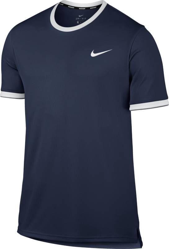 Футболка мужская Nike Court Dry Tennis Top, цвет: синий. 830927-410. Размер S (44/46) футболка мужская nike dry academy цвет синий черный aj4222 469 размер s 44 46