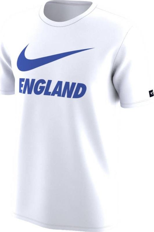 Футболка мужская Nike Dry England, цвет: белый. 888873-100. Размер S (44/46)888873-100Мужская футболка England Dri-FIT из мягкой влагоотводящей ткани обеспечивает длительный комфорт на трибунах и на улице. Модель с короткими рукавами и круглым вырезом горловины.